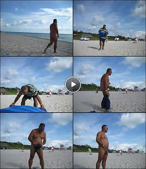 men beach nude video